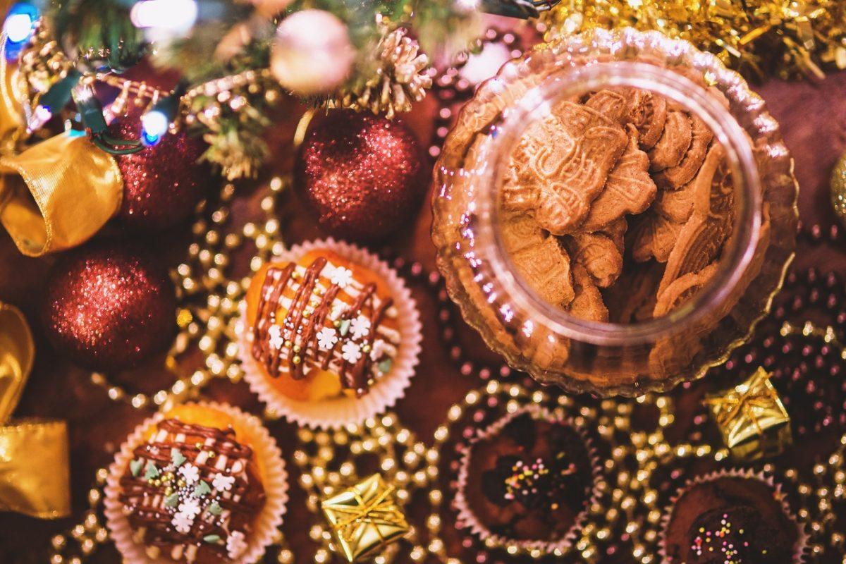 Christmas Cupcakes Postcard