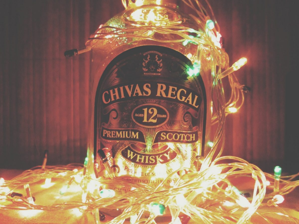 Chivas Regal Premium Scotch Whisky Christmas Postcard