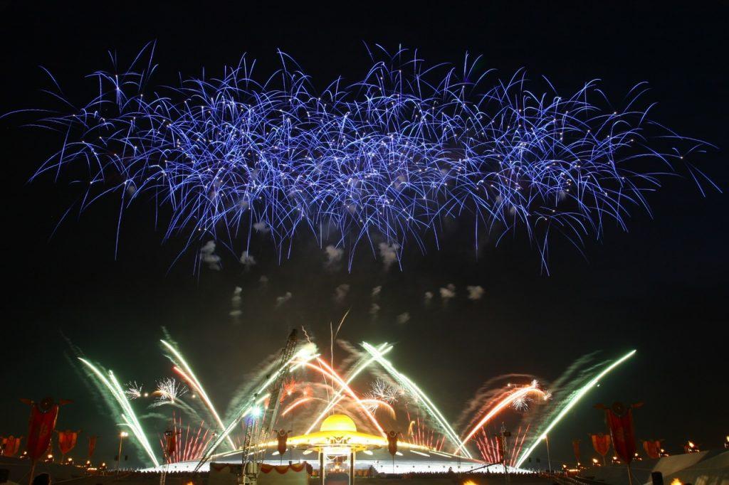 New Year Firework Concert Postcard